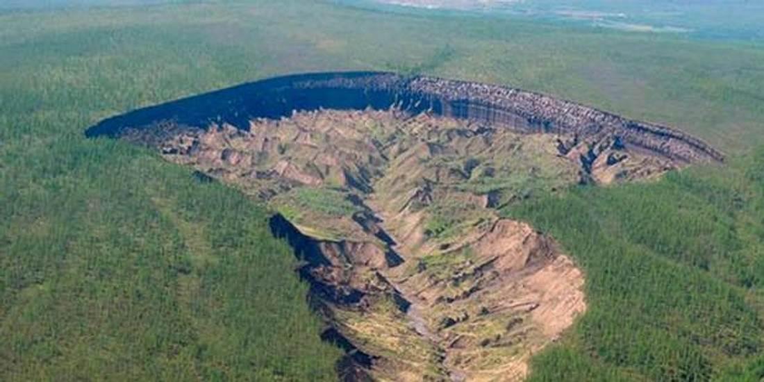 Der Batagaika Krater in Sibirien gilt als Tor zur Unterwelt