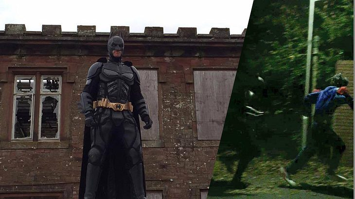 Batman erledigt Killer-Clown, der Kinder mit Waffen bedrohte