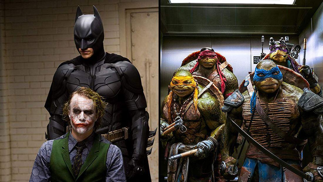Batman trifft auf die Ninja Turtles