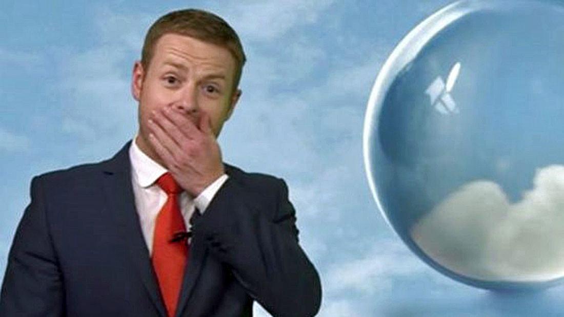 BBC-Wetterfrosch Tomasz Schafernaker übergibt sich während einer Live-Sendung