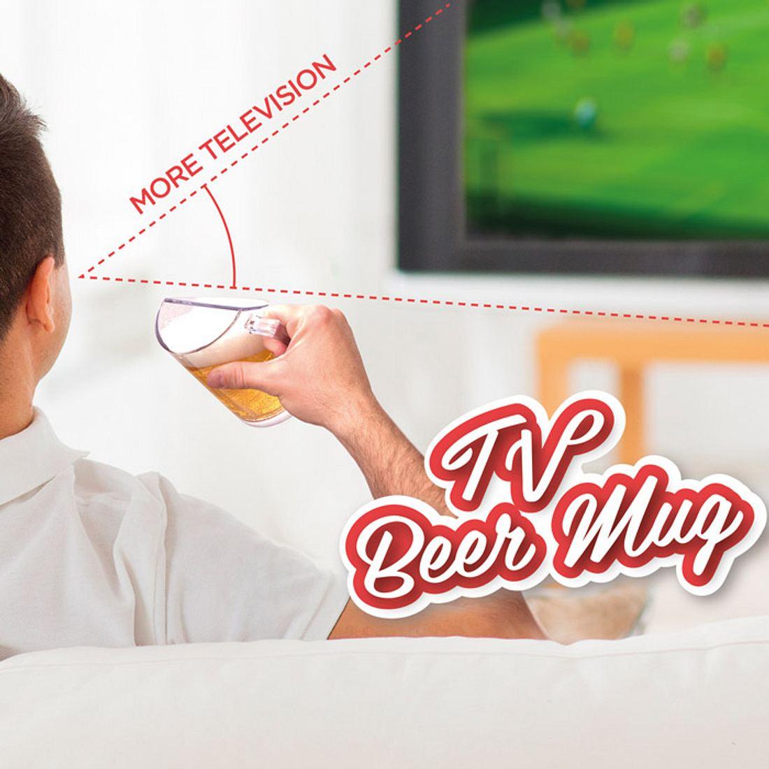 TV Beer Mug: Dieses Bierglas garantiert dir einen ungehinderten Blick auf deinen Fernseher