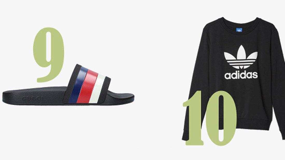 Platz 9 und 10 im Lyst-Index: Gucci und Adidas
