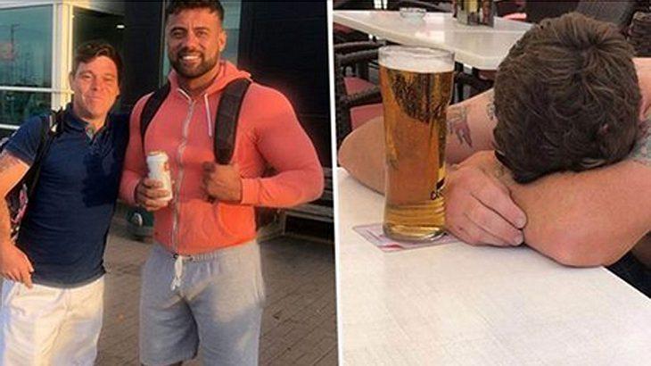 Brite geht auf ein Bier in die Kneipe - wacht morgens auf Malle auf