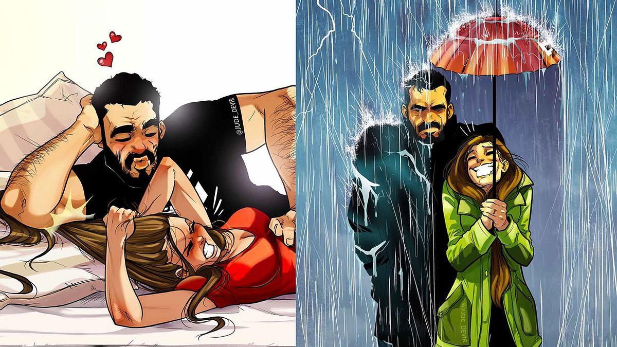 Künstler porträtiert Beziehungsalltag in neuen witzigen Illustrationen