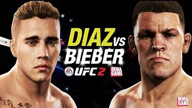 UFC Simulation von EA Sports: Justin Bieber vs. Nate Diaz