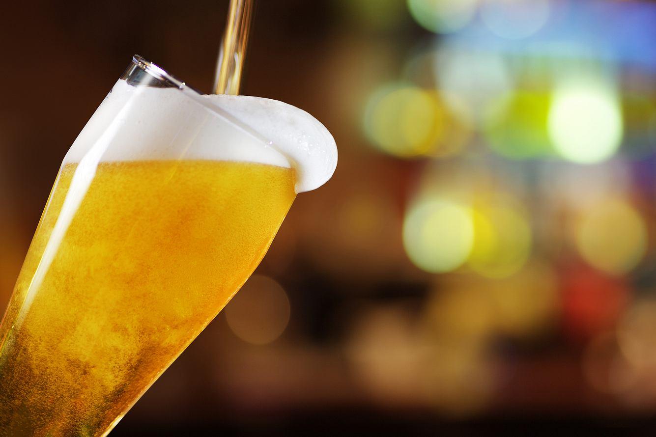 Bier aus dem Zapfhahn