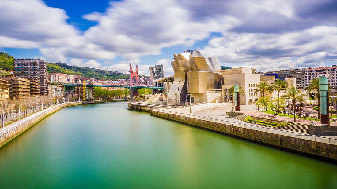 Blick auf Bilbao.