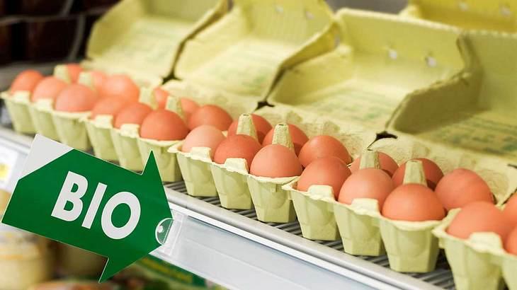 Bio-Eier im Supermarkt