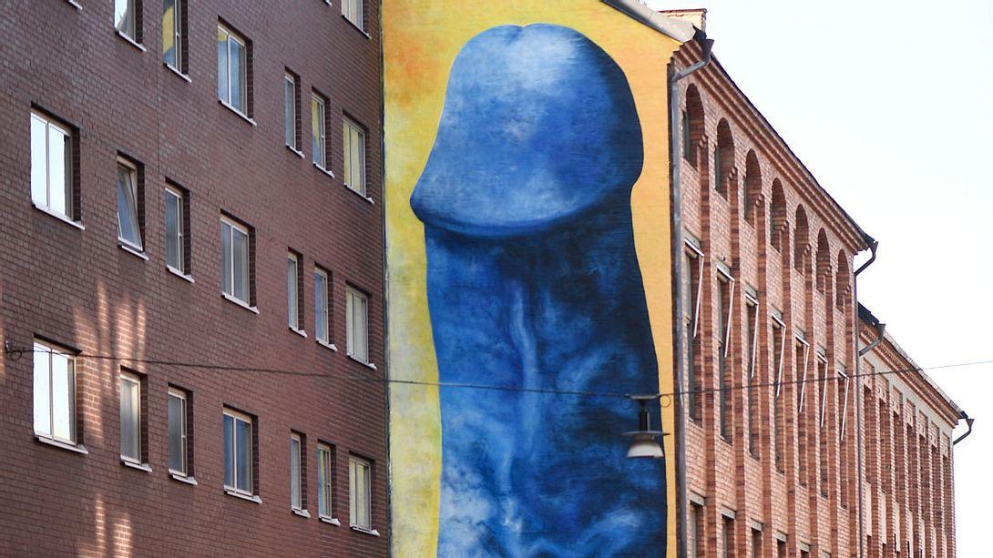 Warum ein blauer Penis halb Schweden in Aufruhr versetzt