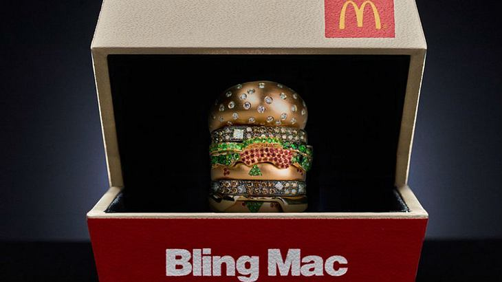 Bling Mac: McDonald's verlost Ring aus Gold und Diamanten