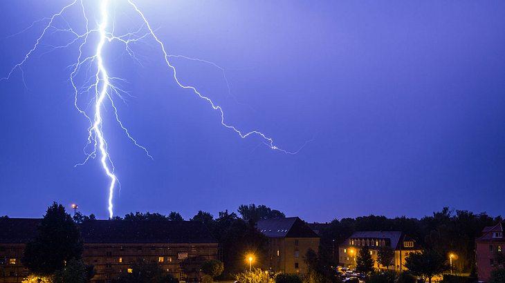Ein Blitzeinschlag