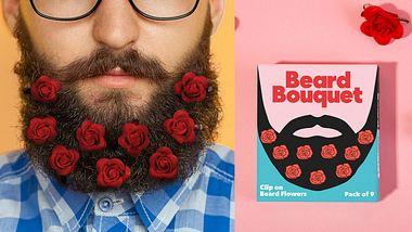 Firma verkauft Bart-Blumen zum Valentinstag