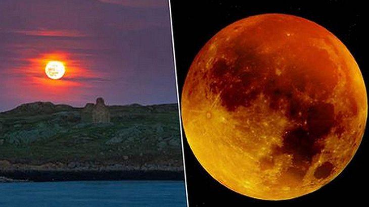 Mega Mondfinsternis Kommt Verst 246 Render Effekt Erwartet