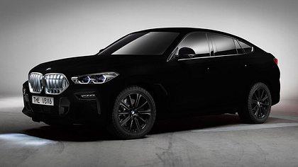 BMW zeigt neuen X6 in schwärzestem Schwarz der Welt