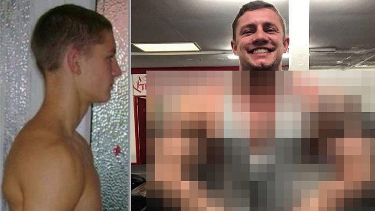 Guy Harding hat sich von einem dünnen Banker in einen muskulösen Bodybuilder verwandelt