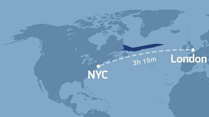 Überschallflieger XB-1 soll die Strecke London-NewYork in guten drei Stunden bewältigen