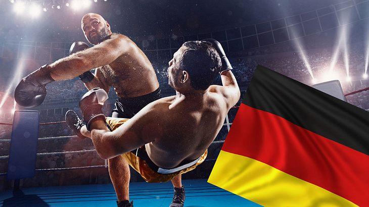 Nationalhymnen-Skandal bei Boxveranstaltung (Collage/Symbolfoto).