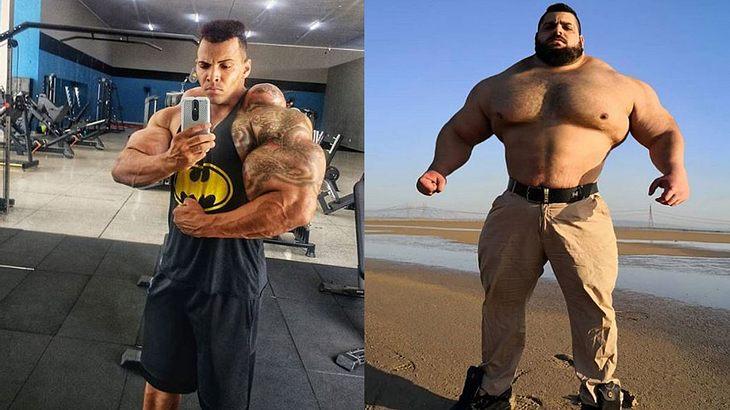 """""""Brasilianische Hulk"""" (links) und der """"Iranische Hulk"""""""