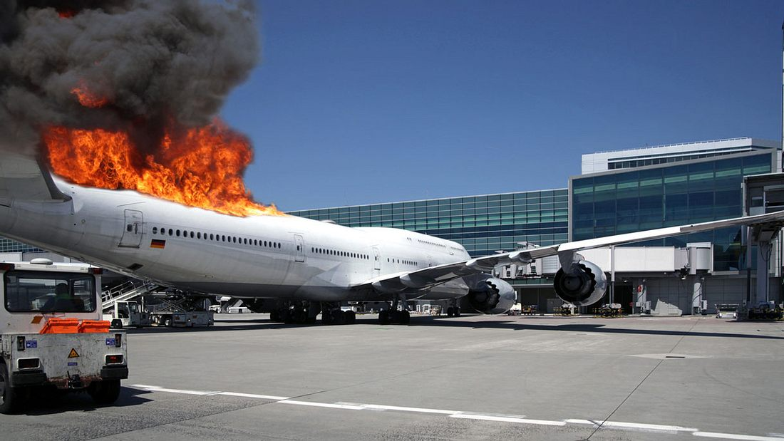 Todesfalle brennendes Flugzeug