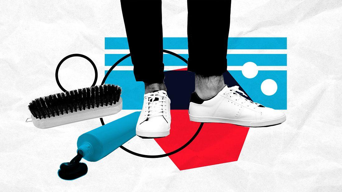 Bringe deine Sneaker wieder zum Glänzen
