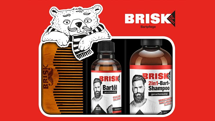 Das BRISK Bartpflege Geschenkset