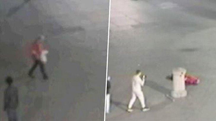 Dieser brutale Angreifer tötet sein Opfer mit einem Schlag auf den Hinterkopf