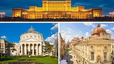 Sehenswürdigkeiten in Bukarest - Foto: iStock / benedek / tichr / LordRunar (Collage Männersache)