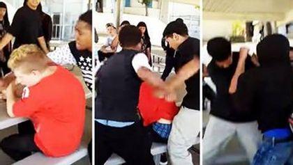 Junge wird auf dem Schulhof brutal attackiert, doch dann ...