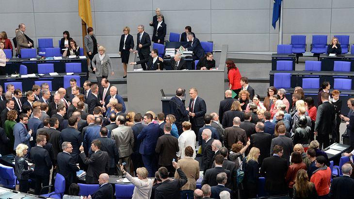 Politiker im Bundestag