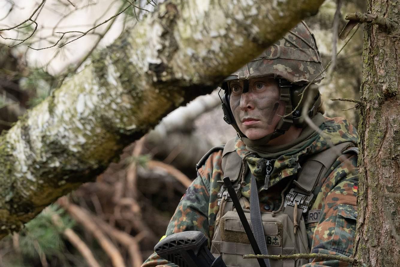 Bundeswehrsoldatin