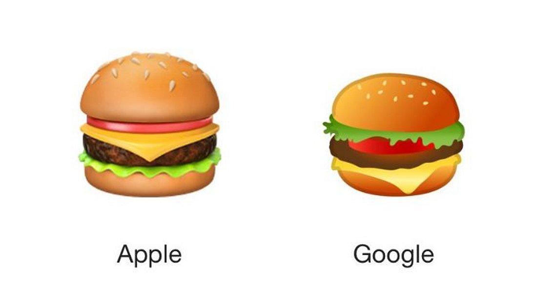 Google oder Apple:Käse unter oder auf dem Fleisch?