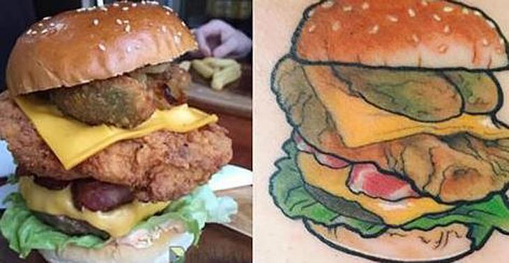 Dieses Burger-Restaurant bietet Kunden, die sich ein Burger-Tattoos stechen lassen, Gratis-Burger für den Rest ihres Lebens an