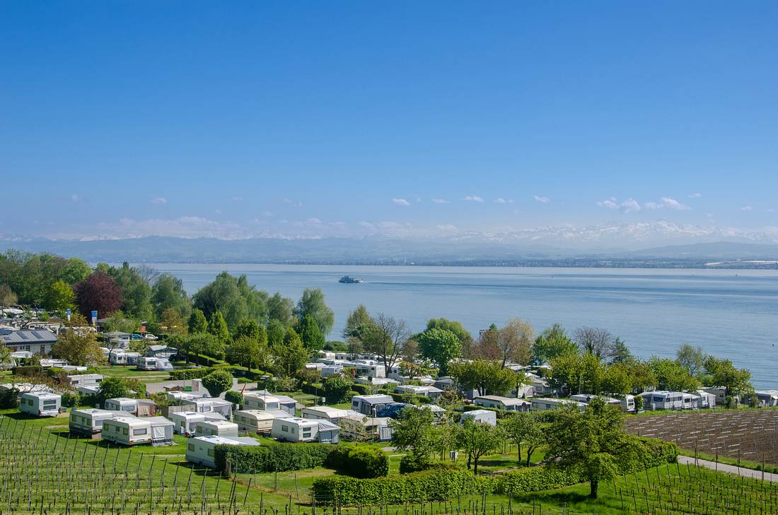 Campen direkt am Bodensee
