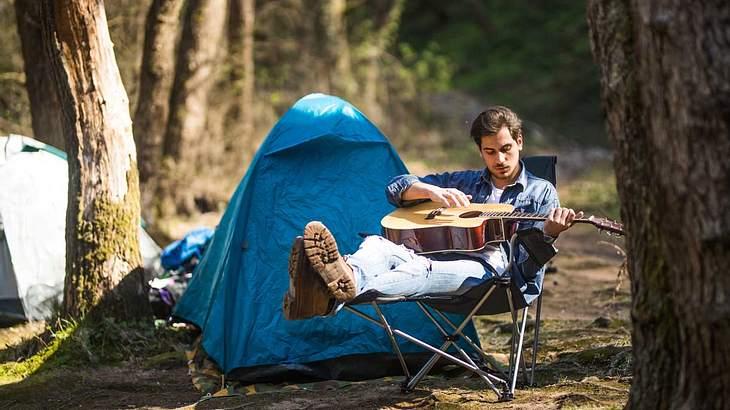 Der richtige Campingstuhl ist Gold wert