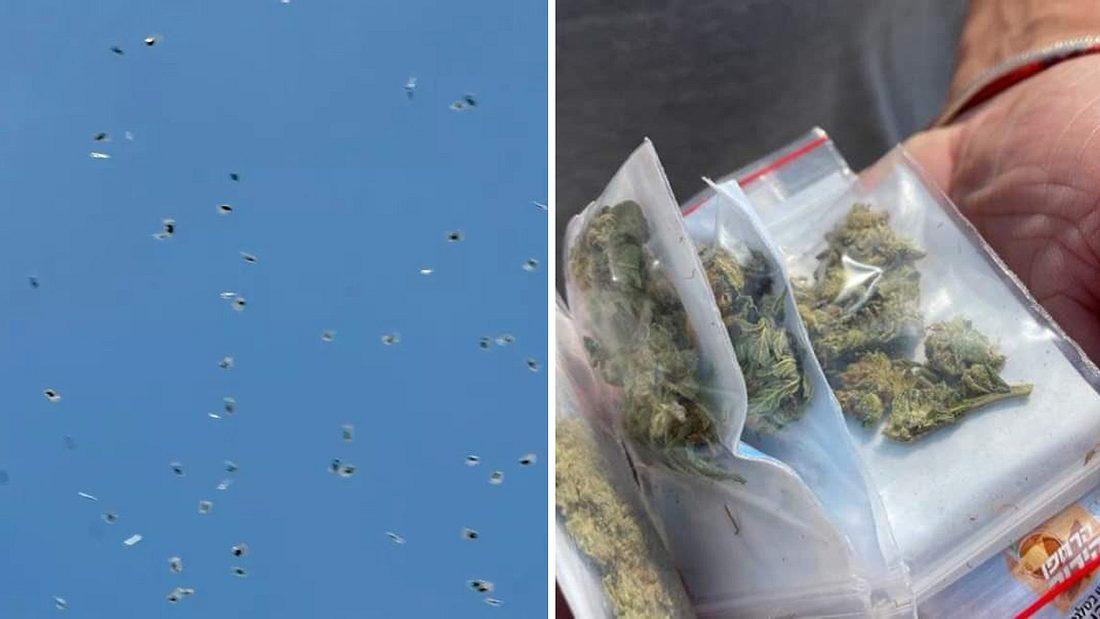 Cannabis fällt vom Himmel
