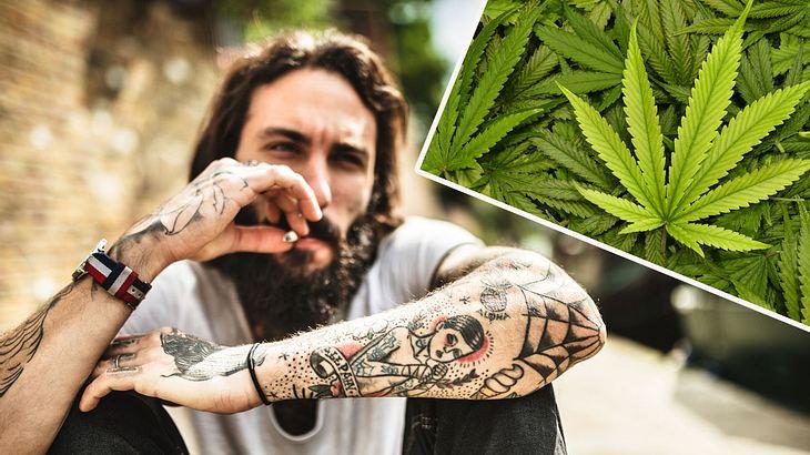 Cannabis-Konsum und Psychosen stehen in unrühmlicher Verbindung (Symbolfoto/Collage).