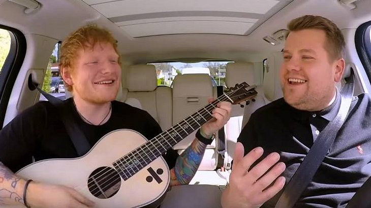 Carpool-Karaoke mit Ed Sheeran singt mit James Corden
