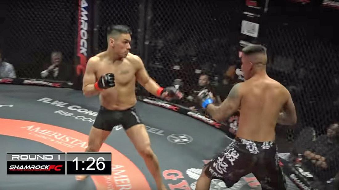 Doppel-KO: Die MMA-Fighter Alan Vasquez und Axel Cazares knocken sich bei Shamrock FC 285 gleichzeitig aus