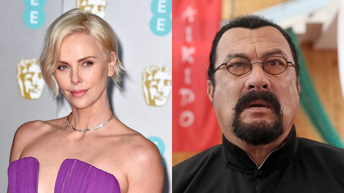 Charlize Theron und Steven Seagal