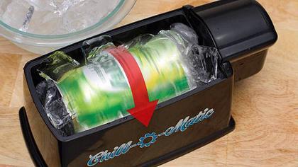 Dieses Gerät kühlt warmes Bier in einer Minute
