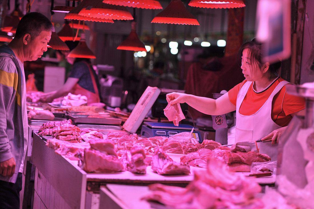 Chinesischer Fleischmarkt