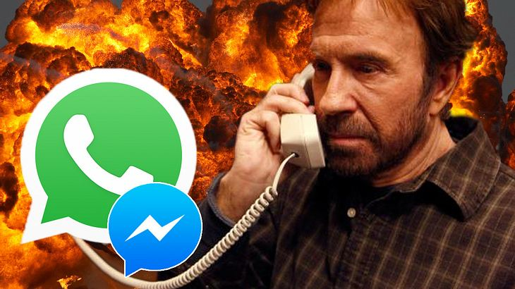 Chuck Norris ist bei WhatsApp und Facebook mit Männersache verbunden - per Festnetz!
