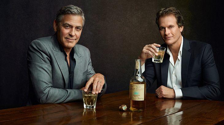 George Clooney und Rande Gerber mit ihrem Tequila Casamigo