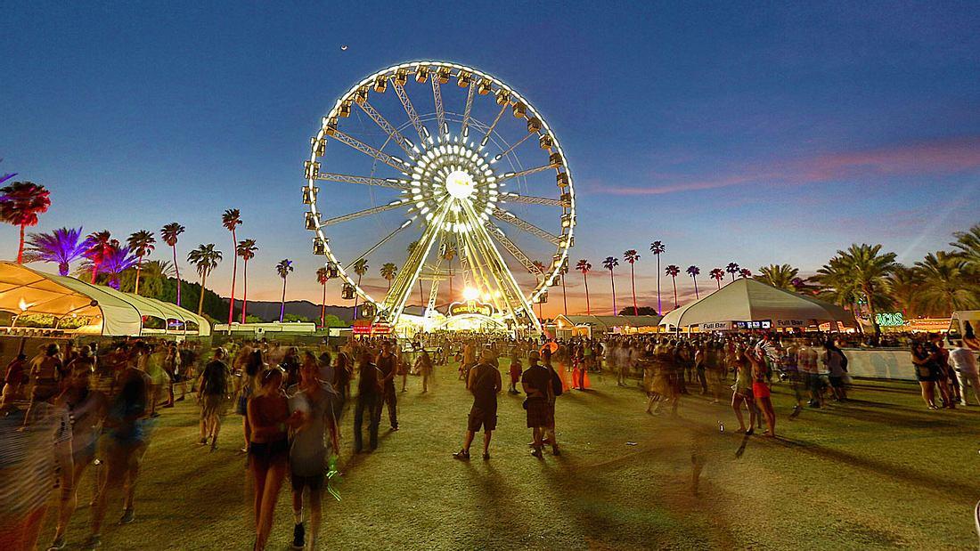 Das Coachella Festival in Kalifornien.