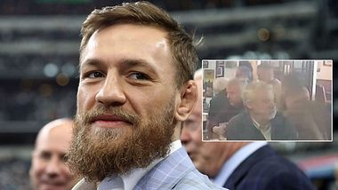 Conor McGregor schlägt in Dublin zu (Collage) - Foto: Getty Images/Ronald Martinez, TMZ