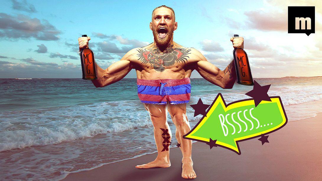 Dieses Tattoo hat sich UFC-Champion Conor McGregor betrunken auf Zypern stechen lassen - Foto: Getty/Montage: Männersache