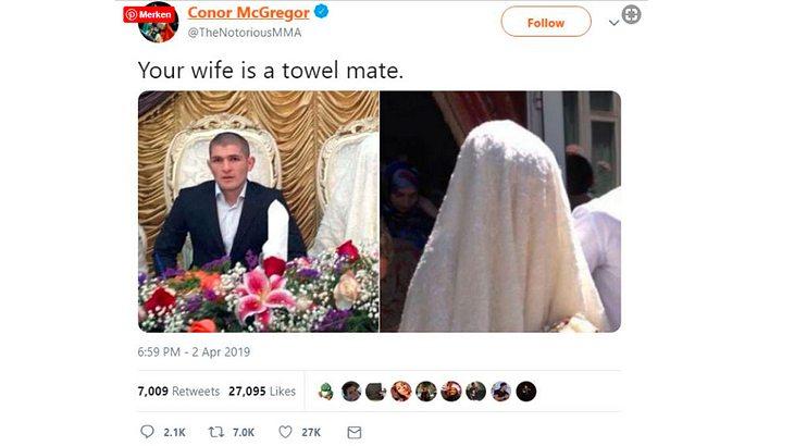 Inzwischen gelöscht: Der Tweet von McGregor