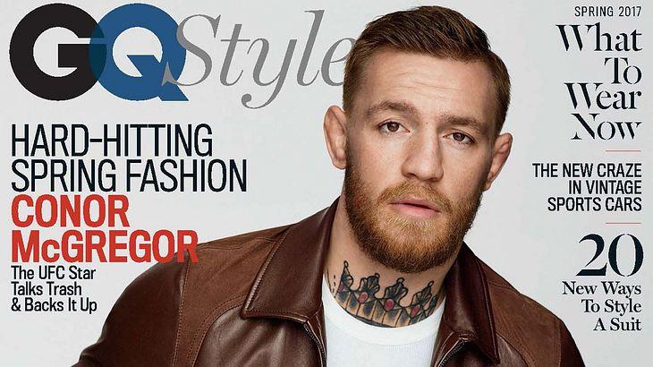 MMA -Kämpfer Conor McGregor auf dem Cover der GQ Style