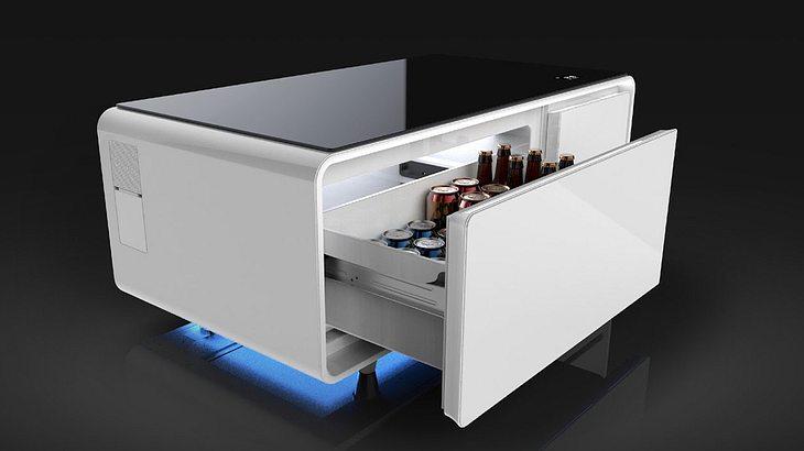 Sobro Cooler Couch Table: Dieser Couchtisch hat integrierten Kühlschrank und Bluetooth Boxen
