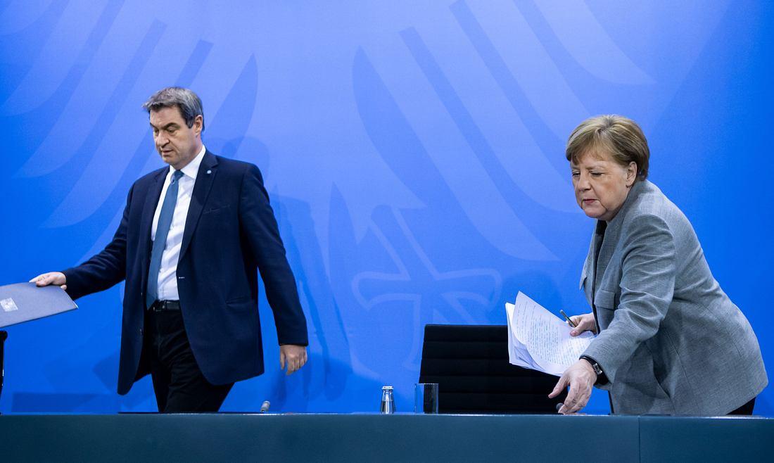 Markus Söder, Angela Merkel